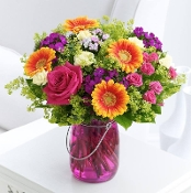 """Bright & Beautiful"" - Fresh Flower Design - Deluxe"