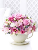 """Tea Time Blooms"" - Fresh Flower Arrangement"