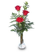 """True Love"" Triple Rose Arrangement"
