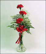 """I Adore You"" Triple Carnation Arrangement"