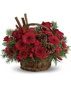 Christmas Spice Basket- Fresh Flower Arrangement