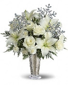 Snowflake Shimmer- Fresh Flower Arrangement