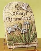 """Always Remembered"" Garden Stone Keepsake - Add to Any Design"