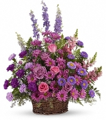 Lavender Beauty Memorial Garden Basket