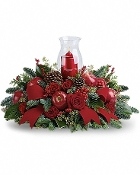 """Silent Night"" Centerpiece - Fresh Flower Arrangement"
