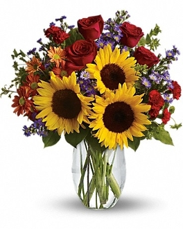 """Bright & Sunny"" - Fresh Flower Design - Deluxe"
