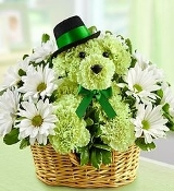 """Lucky - The Irish Puppy"" - Fresh Flower Design - Deluxe"
