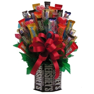 """Sweet as Chocolate"" Candy Bouquet"