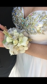 Spray Rose Wrist Corsage - White