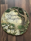 """Never Forgotten"" Garden Stone Keepsake - Add to Any Design"